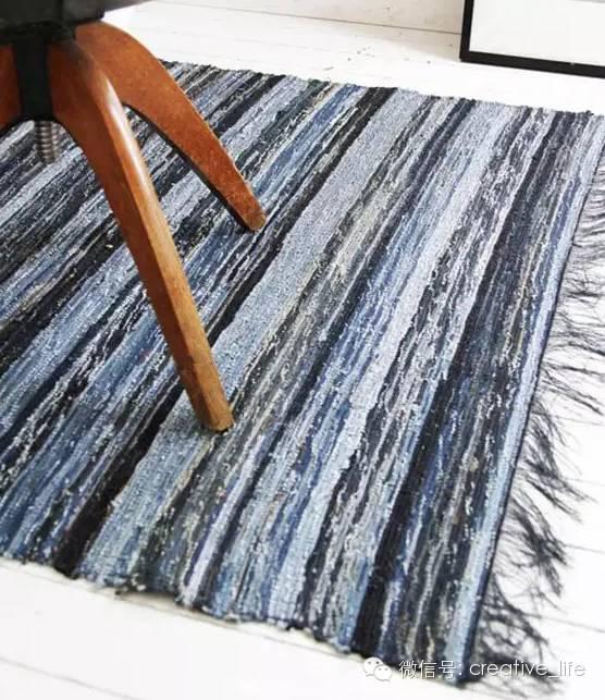 旧牛仔裤改造地毯 图片合集